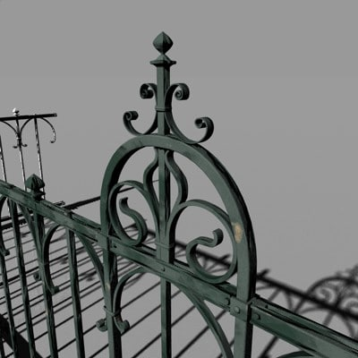 fence iron 3d model