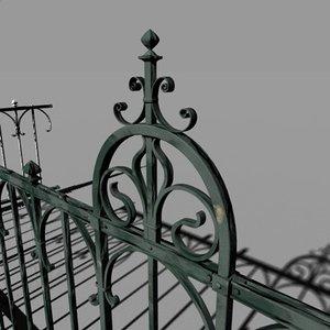 fence iron 3d model