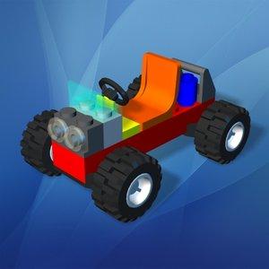 3d max lego toy car