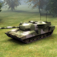 3ds max leopard2 battle tank leopard