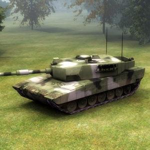 3ds max leopard2 battle tank leopard