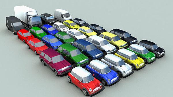 vehicles cars truck 3d c4d