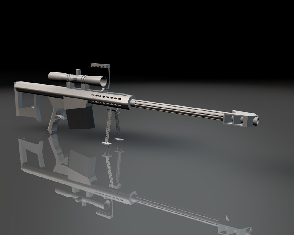 rifles 50 caliber c4d