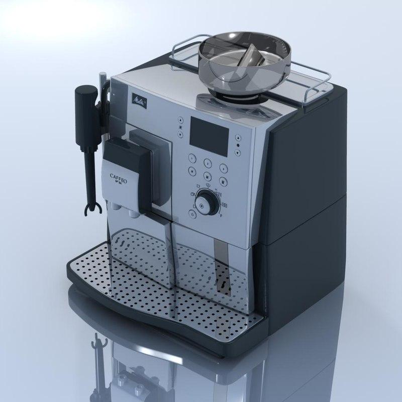 melitta coffee machine 3d 3ds