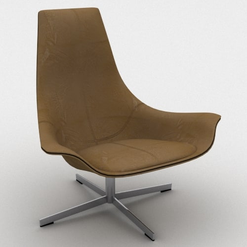 Charming 3d Model Matteo Grassi Chair