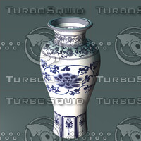 3d wucai vase chinese