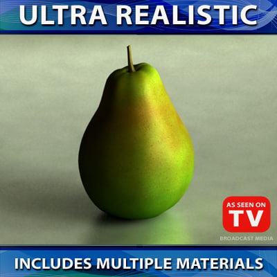 3ds max fruit pear