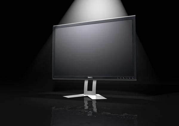 dell e207wfp computer monitor 3d model