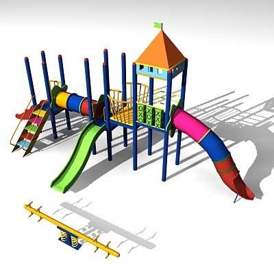 children playground 3d max
