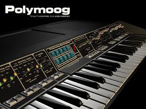 3d polymoog synthesiser keyboard model