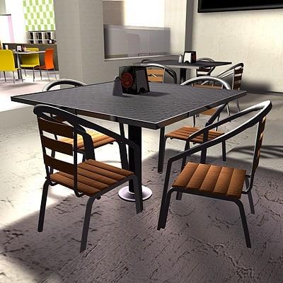 3d restaurant bar model
