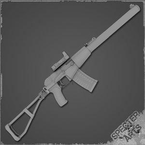 3d val sniper rifle