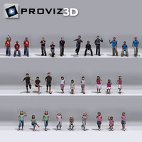 3d people children