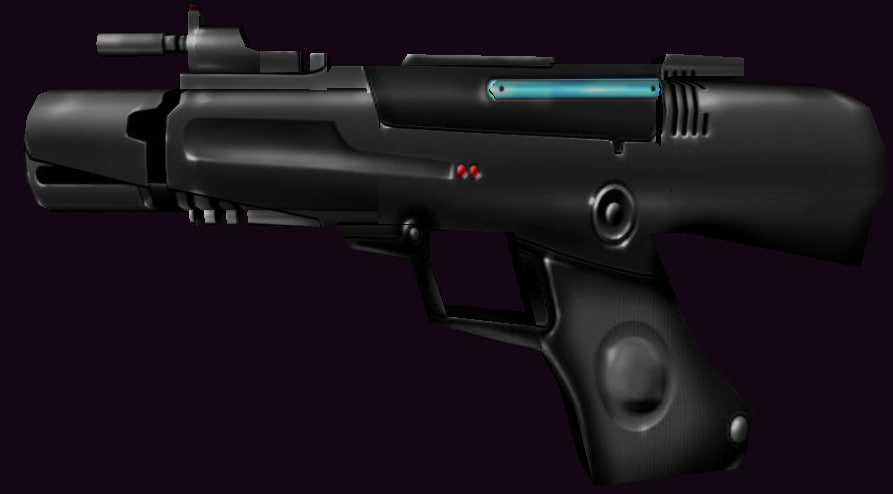 gun pistol 3d obj