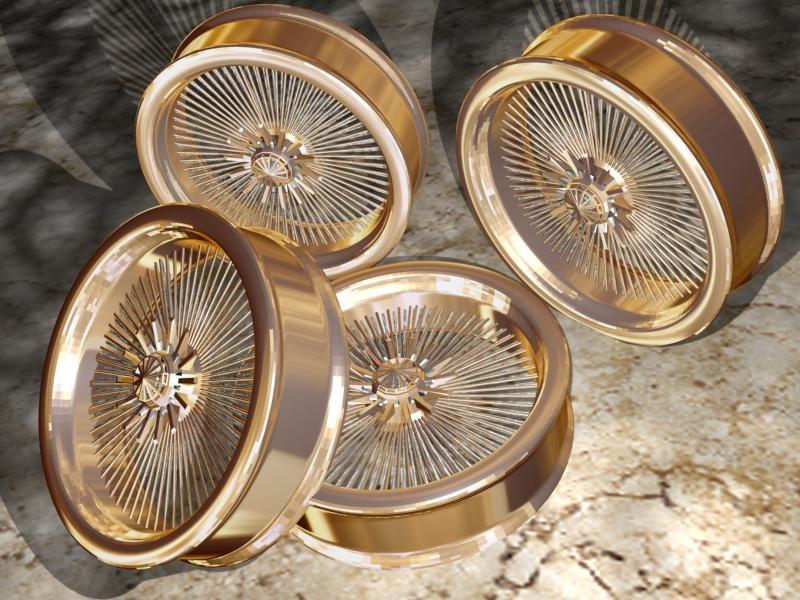 3d model bling spoke rims