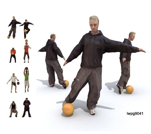 3d people character model