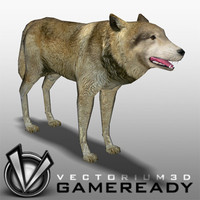 Animals - Game Ready - Wolf