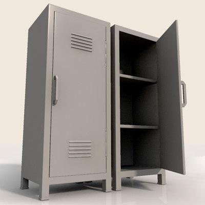 metal cabinet 3d model