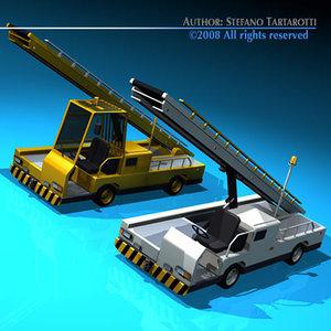 3d model airport baggage loader conveyor belt
