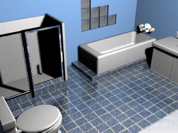 bath toilet 3d model