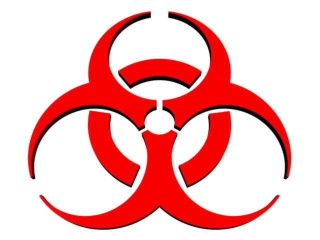 symbol biohazard 3d model
