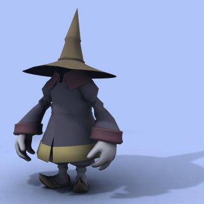 black mage 3d model