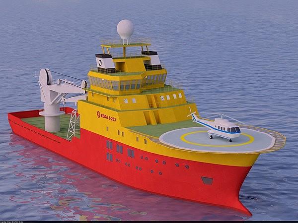 3d serviceship service ship model