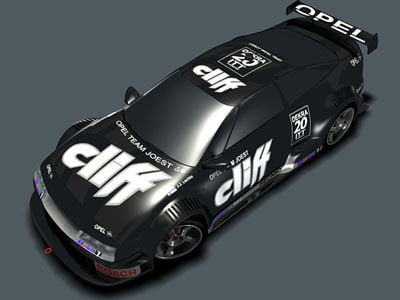 3d opel calibra cliff