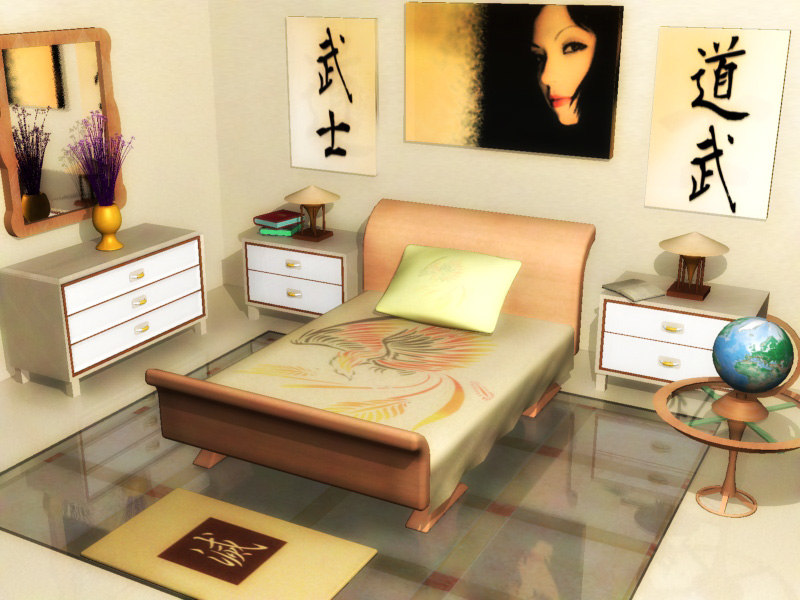 chinese bedroom 3d model