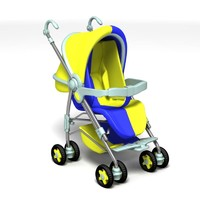 3d model perambulator babycarriage