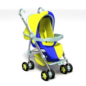 3d model perambulator babycarriage