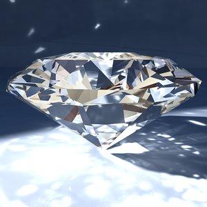 3d gemstone diamonds