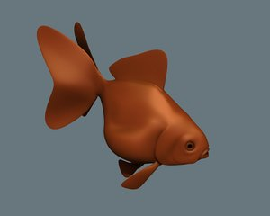 fish gold goldfish 3d model