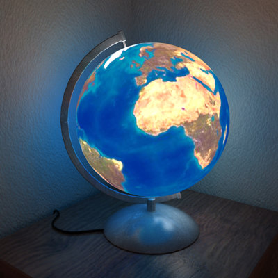 maya earth night light
