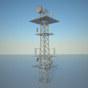 3d communication tower model