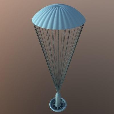 paraglider parachute obj