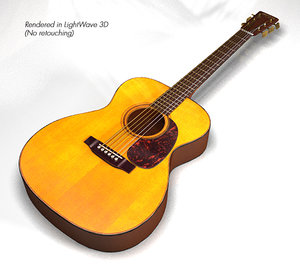3d model martin guitar