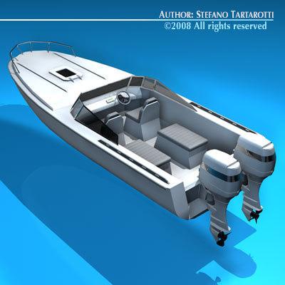 3d dxf motor boat
