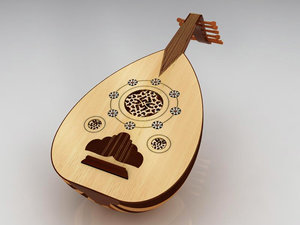 modelled eastern oud 3d model