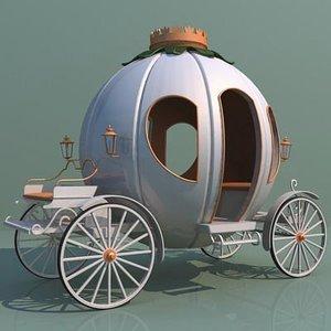 fairy pumpkin cart 3d model