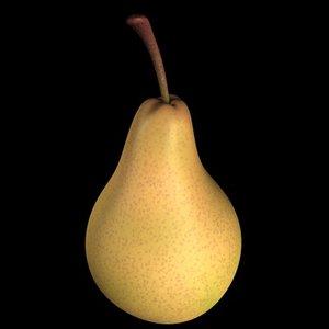 3d model pear fruit