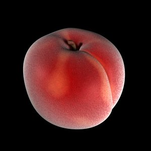 peach fruit c4d