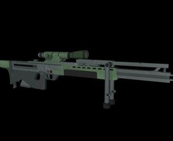 sniper rail gun 3d c4d