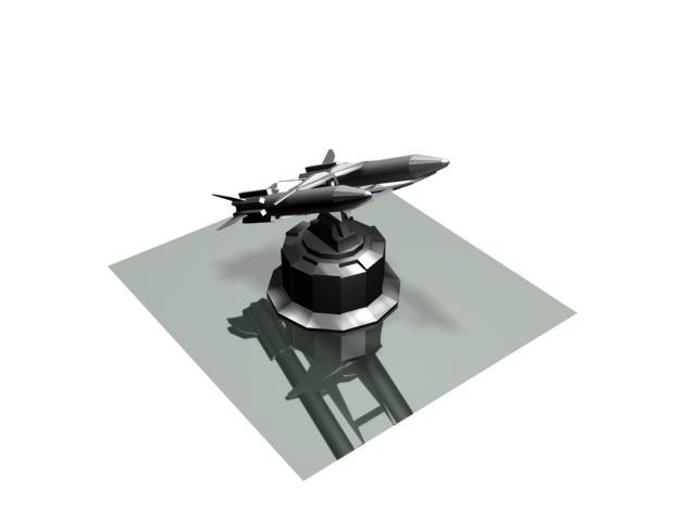 3d model sf turret