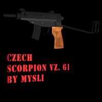 3d model scorpion vz 61