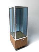 showcase glass retail 3d model