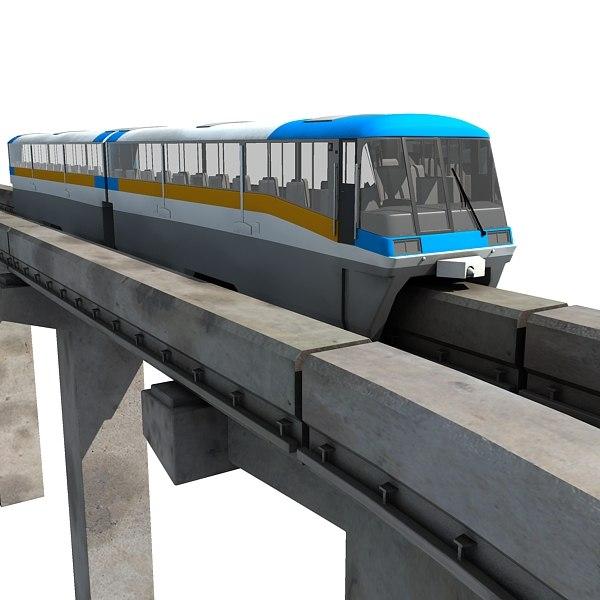 locomotive overpass 3d model