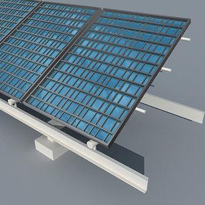 3d model solar panel