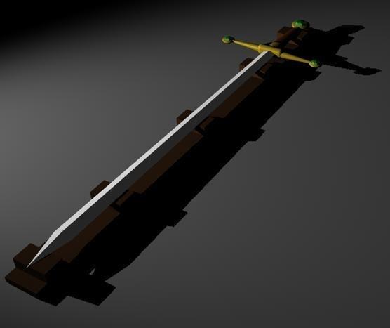 free sword medieval 3d model