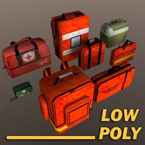 medical bags 3d model